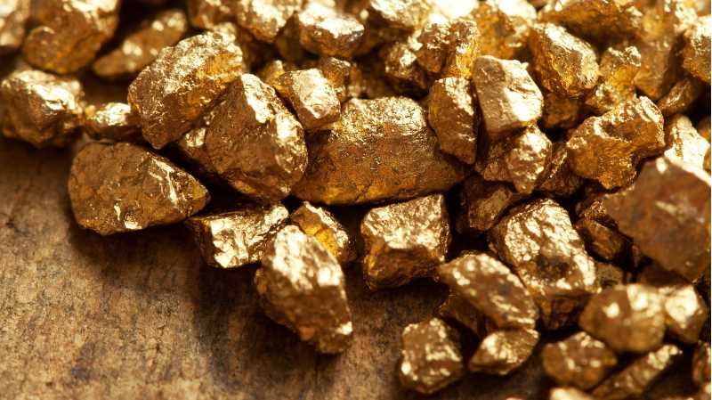 Lumps of gold