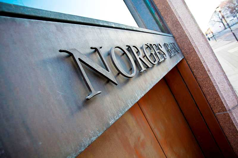 Norges Bank sign on building